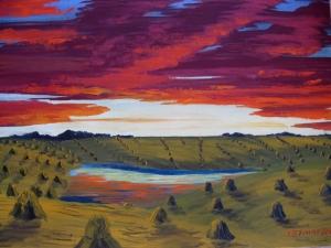 Pat Harvest Sunset